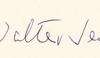 Nachruf auf Walter Jens Signatur