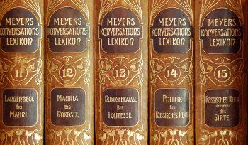 Meyers Konversationslexikon zum Argumente finden